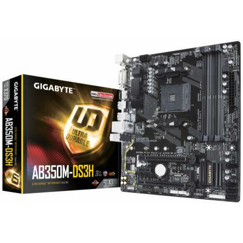 Gigabyte GA-AB350M-DS3H V2 desktop alaplap microATX