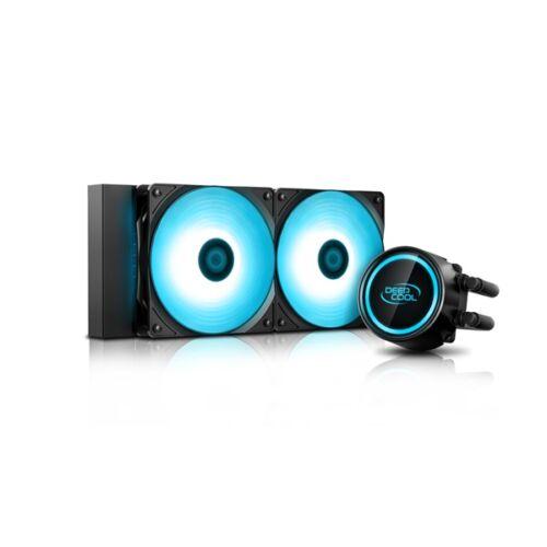 DeepCool CPU Water Cooler - GAMMAXX L240T BLUE (30dB, max. 117.80 m3/h, 2x12cm)