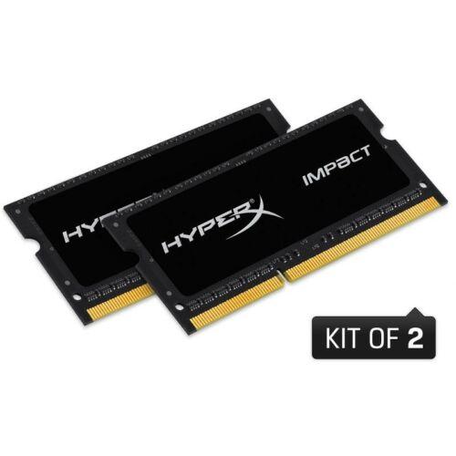 Kingston HyperX Impact Black 16GB 1600MHz DDR3 - SODIMM memória Non-ECC Low-Voltage CL9 Kit of 2 1.35V