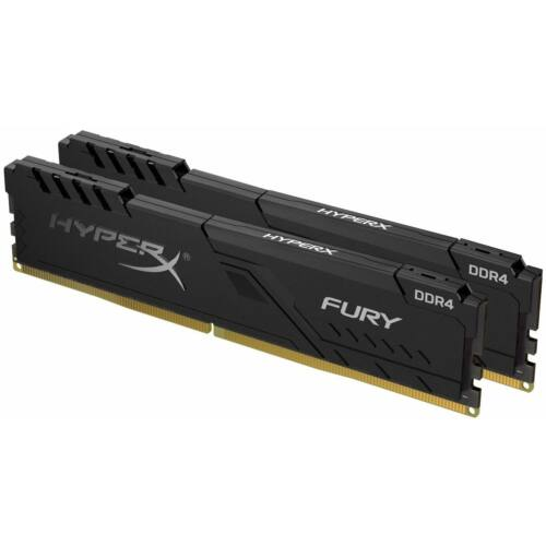 KINGSTON Memória HYPERX DDR4 32GB 2666MHz CL16 DIMM (Kit of 2) Fury Black