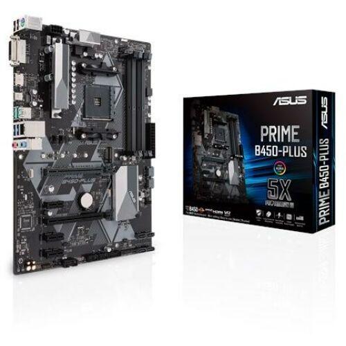 Asus Alaplap - AMD PRIME B450-PLUS AM4 (B450, 4xDDR4 3466MHz, LAN, 6xSATA3, 2x M.2, 6xUSB2.0, 6xUSB3.1, Type-C)