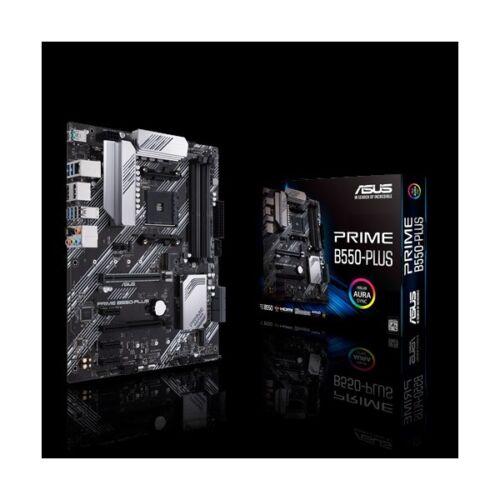 Asus Alaplap - AMD PRIME B550-PLUS AM4 (B550, 4xDDR4 4800MHz, 6xSATA3, 2x M.2, Raid, 6xUSB2.0, 8xUSB3.2)