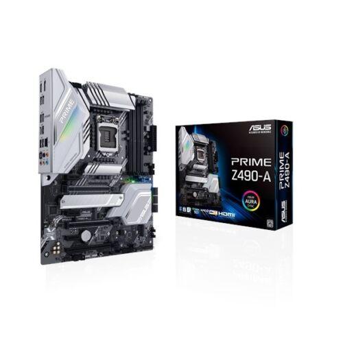 Asus Alaplap - Intel PRIME Z490-A s1200 (Z490, 4xDDR4 4800MHz, 6xSATA3, 2xM.2, RAID, 6xUSB2.0, 9xUSB3.2)