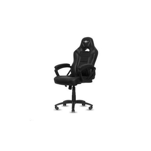 Spirit of Gamer szék - FIGHTER Black (állítható magasság; párnázott kartámasz; PU; max.120kg-ig, fekete)