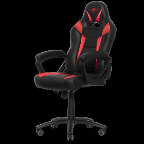 Spirit of Gamer szék - FIGHTER Red (állítható magasság; párnázott kartámasz; PU; max.120kg-ig, fekete-piros)