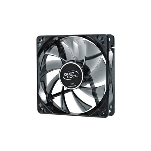 DeepCool Cooler 12cm - WIND BLADE 120 (26,6dB; max. 91,15 m3/h; 3pin csatlakozó; ház hűtésre, kék LED)
