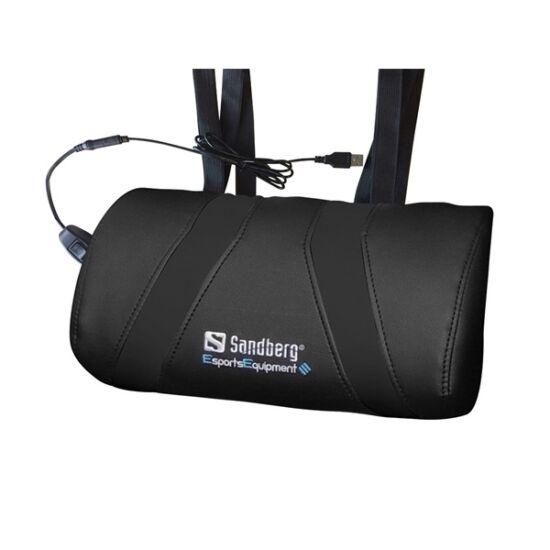 Sandberg Gamer Masszázs Párna - USB Massage Pillow (USB, másszázs funkció, 2 sebesség fokozat, fekete)