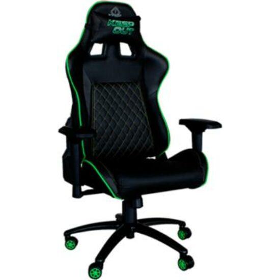 KEEP OUT szék - XS700PROG (állítható magasság;  PU; fekete-zöld)